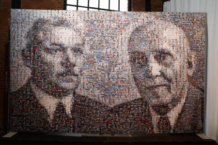 Die WISKA-Gründer, Wilhelm Hoppmann und Hermann Mulsow, erstellt aus über 900 verschiedensten WISKA-Aufnahmen.