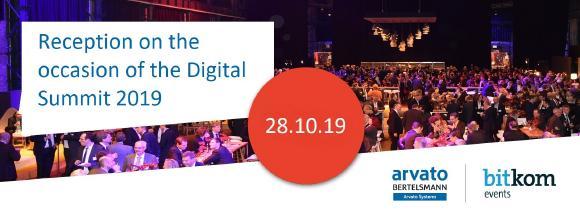 Arvato Systems and Bitkom invite to evening event of Digital Summit 2019 (Copyright: Bitkom)