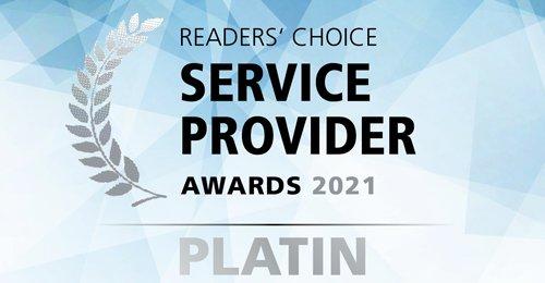Arvato Systems erhält erneut Platin bei den Service Provider Awards (Copyright: Arvato Systems / Vogel IT Medien)