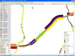 ESN-Ergebnis-Darstellung auf Basis von Abschnitten und NAVTEQ-Strecken in Kombination