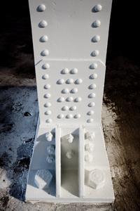 Nach der Beschichtung mit Dickschichtlack ist die Stahlkonstruktion für lange Zeit wieder gegen Korrosion geschützt.