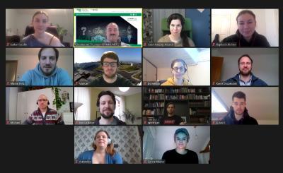 Studierendengruppe während des Online-Seminars