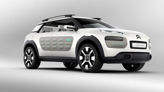 """The """"C4 Cactus"""" with REHAU """"Airbumps"""": The concept car demonstrates how future vehicles from the model range including air-cushioned door panelling could look, Photo: PSA"""