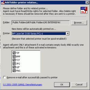 Abteilungsübergreifendes Drucken von E-Mails und Faxen