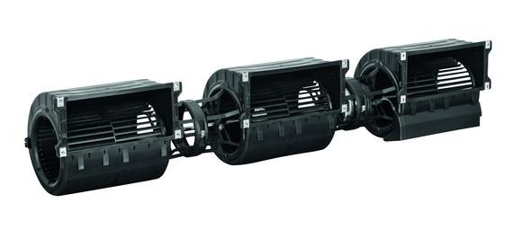 """Die Baureihe der GreenTech EC-Ventilatoren für den Einsatz in Fan Coils gibt es nun auch in der """"Drilling""""-Ausführung (Foto: ebm-papst Mulfingen GmbH & Co. KG)"""