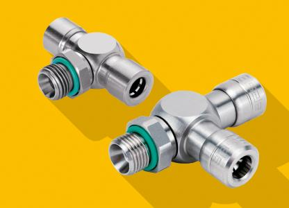 Eisele Connectors' INOXLINE represents an extensive line of different stainless steel solid metal push-in connectors .