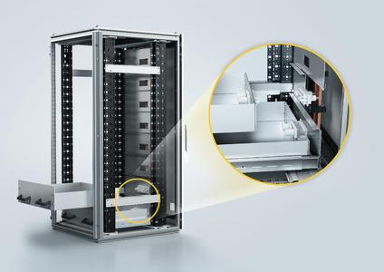 The Han® Docking frame is a float-mounted plastic frame in which some 50 interfaces from the Han-Modular® product range can be integrated