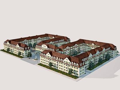 """Das historische Wohnensemble """"Neue Hofgärten"""" in Ludwigshafen am Rhein"""