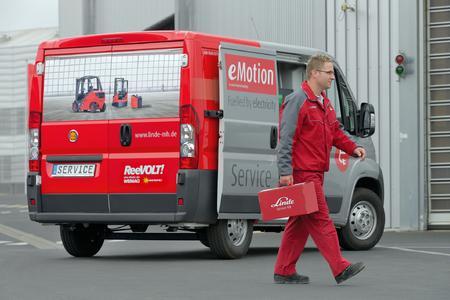 Elektrotransporter im Einsatz als Linde Service-Van (Foto Linde)