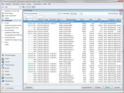 Screenshot APRO.CON 12  Rechnungen