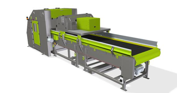 The VARISORT system presented by Sesotec at the IFAT 2016 is especially suitable for the sorting of solid waste materials. (Rendering: Sesotec)
