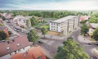 Luftbild der Lidl-Projektentwicklung in der Hönower Straße (Bildquelle: Lidl Deutschland)
