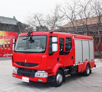 Zwei Renault Midlum Löschfahrzeuge verstärken seit kurzem den Brandschutz in der berühmten Verbotenen Stadt
