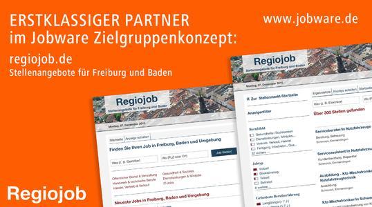 Mehr Reichweite in Freiburg und Südbaden: Jobware und Regiojob kooperieren im Stellenmarkt.