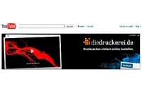 diedruckerei.de Advertises on the Homepage of YouTube