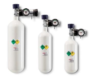 Sauerstoffflaschem mit Druckregeler