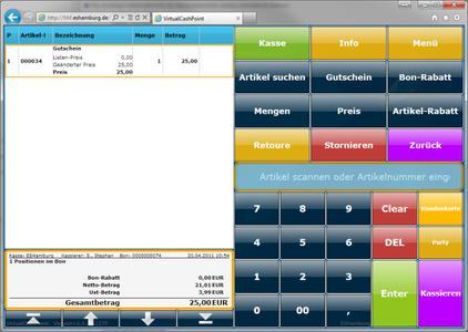 Kassensoftware Virtual-Cash-Point