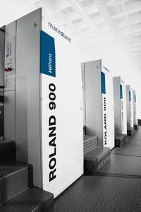Print Duemila near Milan in Italy now employs a ROLAND 900 printing press.  © manroland