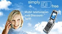 Mobilfunkdiscounter simply spendiert 75 Freiminuten in alle Netze