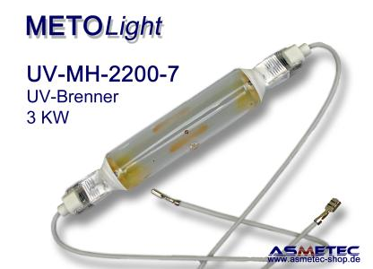 METOLIGHT MH 2200-7 Metall-Halogenid UV-Brenner FE-dotiert