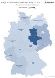 Bundesländer-Vergleich Conversion-Rate / Quelle: AnalyticaA Performance Marketing GmbH