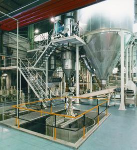 Die Produktion von Gießpulvergranulat für die Stahlindustrie erfüllt höchste Qualitätsstandards