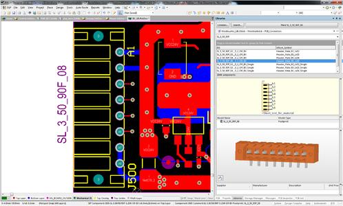 """Weidmüller OMNIMATE service: For an efficient way to create """"footprints"""", Weidmüller is offering extensive downloadable component libraries of PCB terminals and plug-in connectors for EDA (electronic design automation) systems"""