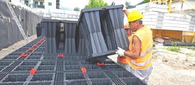 Schnelle Montage der AQUABOX Elemente senken die Kosten des Projektes weiter nach unten, der ROI ist kurzfristig durch die umfangreiche Wiederverwendung erreichbar.