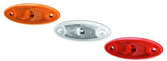 """Die """"One-LED"""" von Hella gibt es für den 12 V und 24 V Bereich als Seitenmarkierungsleuchte, Positionslicht und Umrissleuchte – mit farbigen Rahmen in Weiß, Orange, Grau und Schwarz"""