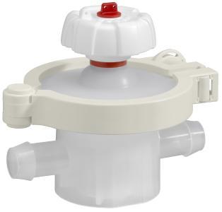 Single-use diaphragm valve with autoclavable manual actuator