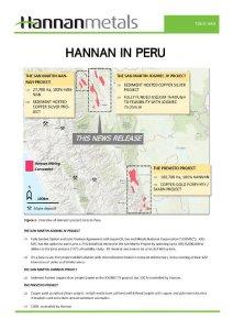 HANNAN METALS Schürfkanalproben zeigen 1,6 m mit 5,3 % Kupfer und 83 g/t Silber und bestätigen reduzierten Schieferwirt auf Tabalosos East in Peru