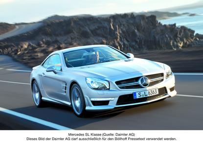 Mercedes SL Klasse (Quelle: Daimler AG). Dieses Bild der Daimler AG darf ausschließlich für den Böllhoff Pressetext verwendet werden.