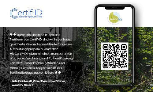 woodify entscheidet sich für Blockchain-gestützte, digitale Zertifikate zur Ausstellung von CO2-Zertifikaten