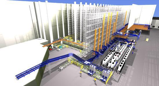 Vorschau auf das neue Logistikzentrum von nobilia