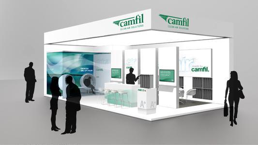 Der Camfil Messestand auf der ISH 2015 wurde als Kommunikationsplattform konzipiert