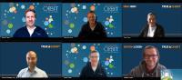 Starten gut gelaunt in die Zusammenarbeit: Tobias Hejna, Sebastian Rutz und Robert Pfahl von ORBIT IT-Solutions; Nina Heim, Michael Schwan und Bastian Lossen von TRUECHART