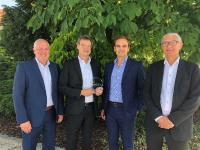 Robert Diewock (Supplier Business Manager Avnet Silica), Mario Orlandi (President Avnet Silica), Olivier Cottereau (vice president sales EMEA at NXP), Walter Vervloesem (Corporate Account Manager NXP)