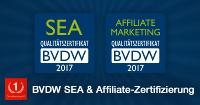 One Advertising AG erhält vom BVDW Zertifizierung für Search Engine Advertising und Affiliate Marketing