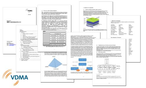 """Blick in das neue VDMA-Whitepaper """"MES und Industrie 4.0"""" / Bild: MPDV / VDMA"""