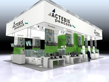 Modell des CeBIT-Standes 2008 der Actebis Peacock GmbH, Halle 25/Stand B105