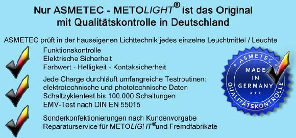 METOLIGHT Qualitätsgarantie