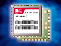 SIM900 quad band GSM/GPRS module from SIMCom