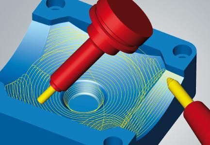 hyperMILL® MAXX Machining: 5-Achs-Tangentialbearbeitung für beliebig krümmungsstetige Flächen / Bildquelle: OPEN MIND