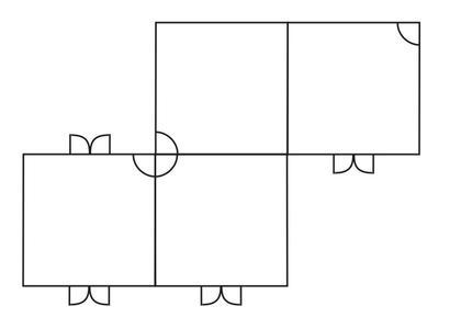 Individuelle Aufstellung der Cyclon Zelte in spiegelverkehrter Z – Form