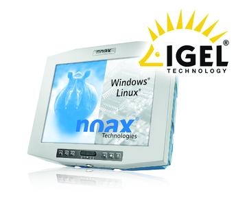 Hardware by noax and software by IGEL form a stable and failsafe system.
