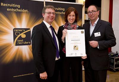 CAREER'S BEST RECRUITERS - Verleihung in Frankfurt am Main
