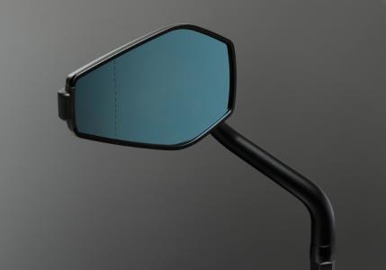Motorbike mirror 'epo' with convex glass