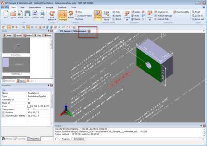 Kisters 3DViewStation 3D PDF analyse MBD PMI