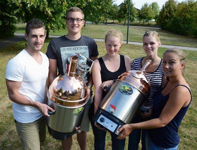 von links nach rechts: Jannis Ohm, Finn Hansen, Merret Sacht, Lena Kremke und Laura Meyer. Foto Gatermann