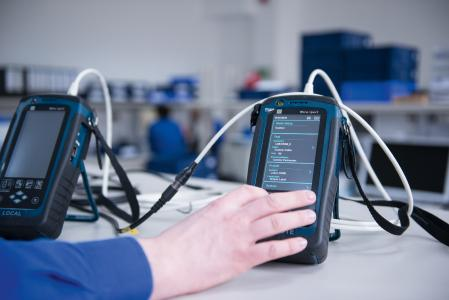 ODU data cable testing: a state-of-the-art device to test the respective parameters of cable assemblies.